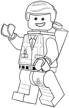 How To Draw Emmet From The Lego Movie And Minifigures Drawing Tutorial