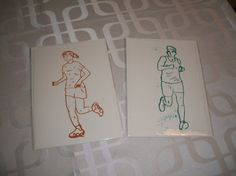 Boutique Etsy, Running Man, Silk Screen Printing, Courses, Wish, Cards, Women, Greeting Card, Running Women