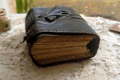 The Storyteller Dark Brown Leather Journal by bibliographica