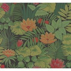 Little Green - Reverie Wallpaper in Jungle.  Looks like a Henri Rousseau forest