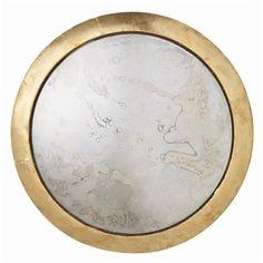 Kesler Medium Brass Foil Clad/Mirror Plaque from Arteriors