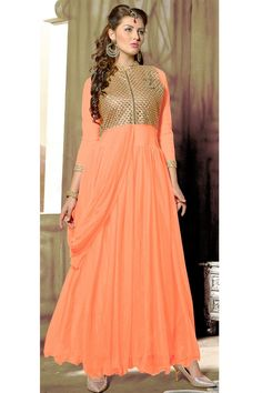 Gleaming Evening Party Wear Designer Gown Only RS. 2575