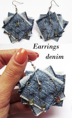 Earrings from denim