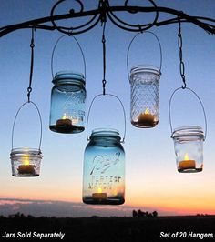 What a cute idea for hanging lights outside