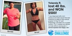 Are you KIDDING Me? This is an amazing story from Yolanda, who had a torn meniscus and thought it was all over. Not so! Click on the image for more info on #21DayFix and #Shakeology