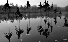 "Escultura del artista francés Guy Lorgeret, titulada ""Retour a Betton"" (""Regreso a Betton"")"