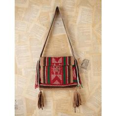 Free People Vintage Woven Bag - Multi One Size