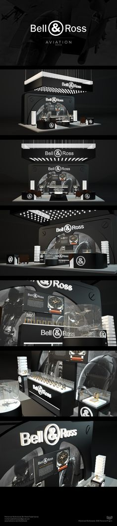 My personal project designing a special retail design for Bell & Ross Aviation Series watches.
