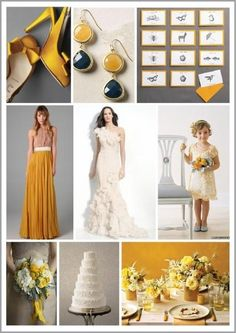 Gold and Charcoal - For more wedding planning tips, check out our website - http://bridalmentor.com/.