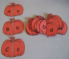 Uppercase/Lowercase Pumpkin Matching - fun learning activity for #Halloween…