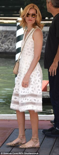 Big exit: The sexy starlet wowed movie fans as she boarded a private water taxi in the pop...
