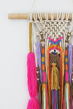 XOTHLO wall hanging unique boho macrame knots on natural sash