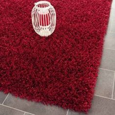 Safavieh Clyde Hand-Tufted Shag Area Rug or Runner, Red