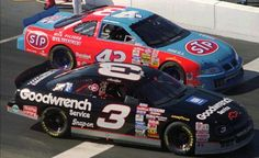 The #43 of the Great Richard Petty  and the #3 of Great Dale Earnhardt Sr.