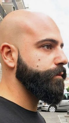 Bald Head Man, Shaved Head With Beard, Beard Head, Beard Game, Bald Man, Bald Men With Beards, Bald With Beard, Great Beards, Awesome Beards
