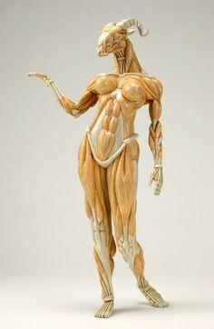 Alien et Anatomie - Masao Kinoshita Anatomy Poses, Anatomy Art, Human Anatomy, Anatomy Sculpture, Sculpture Art, Mythological Creatures, Fantasy Creatures, Gunther Von Hagens, Arte Alien