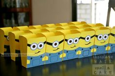 Despicable Me Party minion boxes/loot bags