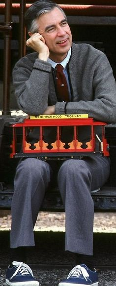 Mr Rogers. I grew up with his show... I got to hear him speak in the 80's...He was amazing!