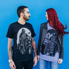Darth Vespa and American Darkside tees available at www.nofitstate.co.  Photo by Open Kloset