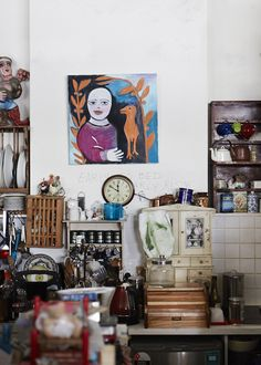 Mirka Mora's home/studio space.  Photography - Sean Fennessy. Production – Lucy Feagins / The Design Files.