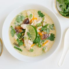 thai chicken soup. dinner ~ recipe ~ asian ~ ginger ~ tasty.