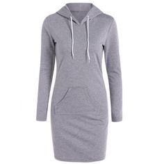 Casual Long Sleeve Hoodie Dress