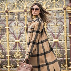 """London - """"Dressing for your location is key, and this Rachel Zoe coat couldn't be more perfect for London."""""""