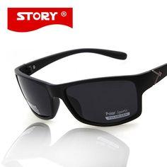 3c91e1e1d1d8 FuzWeb STORY Sports Men Sunglasses Shield Shape Polarized Male Gafas De Sol  Fishing Eyewear Top