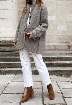 Outfit Jeans, Jeans Outfit Winter, Fall Jeans, Fall Winter Outfits, Autumn Winter Fashion, White Jeans In Winter, Winter White, Brown Boots Outfit Winter, Dress Winter