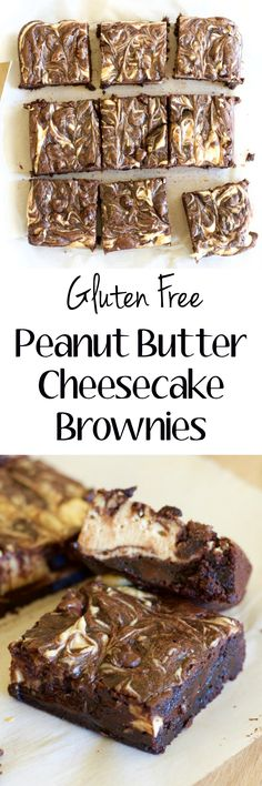 These easy gluten free Double Chocolate Cheesecake Peanut Butter Brownies are loaded with dark chocolate flavor, creamy cheesecake and rich peanut butter! And they are SO EASY!