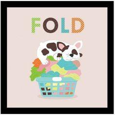 Laundry Fold by Eazl Black Canvas Image Box