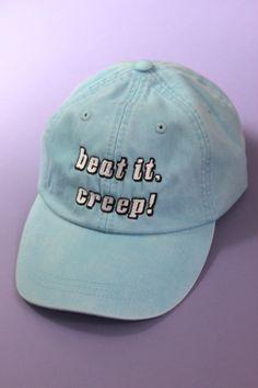 Beat It, Creep! Light Blue Baseball Cap