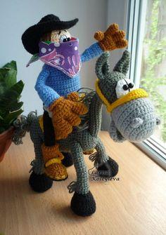 Cowboy amigurumi crochet pattern by jasminetoys on Etsy