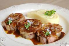 de cerdo rellenas con foie y salsa pedro ximenez Tapas, Mexican Food Recipes, Ethnic Recipes, Spanish Food, Barbacoa, Food Presentation, Yummy Treats, Entrees, Baked Potato
