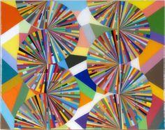 MARK OTTENS, UNTITLED (Caterpillars), Acrylic on Panel, 11 x 14 x 1