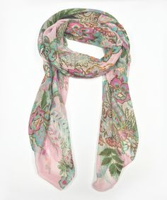 Love this Pink & Aqua Floral Scarf by East Cloud on #zulily! #zulilyfinds