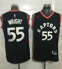 Raptors  55 Delon Wright Black Stitched NBA Jersey Jersey Day 28767654e