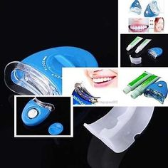 Dental White light teeth whitener Teeth Whitening Whitelight Fast-working brightening whiten complete set ** Check out the image by visiting the link. Teeth Whitening Procedure, Teeth Whitening System, Dental Teeth, Dental Care, White Light Teeth, Perfect Teeth, Teeth Bleaching, Cat Eye Makeup, Oral Hygiene
