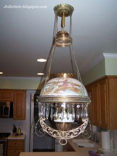 Victorian Hanging Parlor Lamp Mary Frances Jollett Davis
