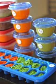 Making Baby Food 101 - Recipes, Grocery Lists and Storage Methods. Linds-this gets my stamp of approval ;)