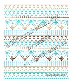Crochet Stitches Chart, Crochet Diagram, Crochet Motif, Stitch Patterns, Knitting Patterns, Crochet Patterns, Crochet Baby Dress Pattern, Crochet Leaves, Crochet Skirts