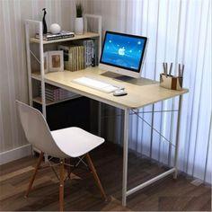 2in1 Computertisch Schreibtisch Arbeit Office Büromöbel Regal Ablage Metal +Holzsparen25.com , sparen25.de , sparen25.info
