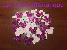 Minnie Glitter Party Confetti  Minnie Party Supplies  Pink