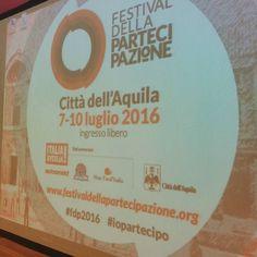 Al via tra qualche minuto il primo evento del Festival della Partecipazione