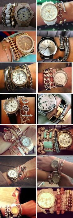 Texture, color, metal, leather, beads ... mix and match to get the look you want | http://watchesinthemovies.com