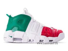 more photos 94f97 ab150 Officiel Nike Air More Uptempo AV3811-600 Chaussure De Basketball Pas Cher  Homme Vert blanc