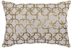 Gilded Cotton Throw Pillow