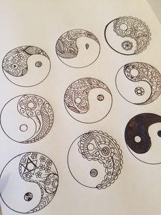 Paisley Ying Yang i drew Tattoo