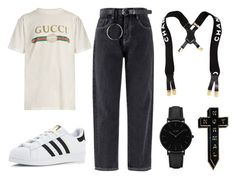 N O T / N O R M A L by yungkiko on Polyvore featuring polyvore, fashion, style, Gucci, adidas, CLUSE, NoHours, Chanel and clothing