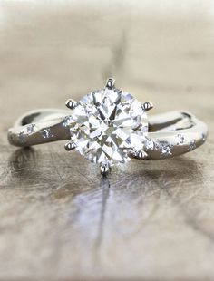 Unique Nature Inspired, Eco friendly engagement rings by Ken & Dana Design
